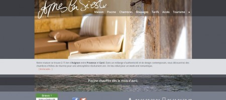 Après La Sieste est une maison d'hôtes de charme à Saint Laurent des Arbres, dans le Gard (30).