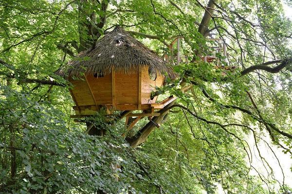 Les cabane dans les arbres de Fontaine sont un hébergement insolite en Seine Maritime.